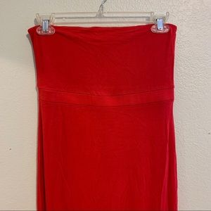Red old navy tube top maxi dress small